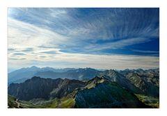 Blick auf die spanischen Pyrenäen