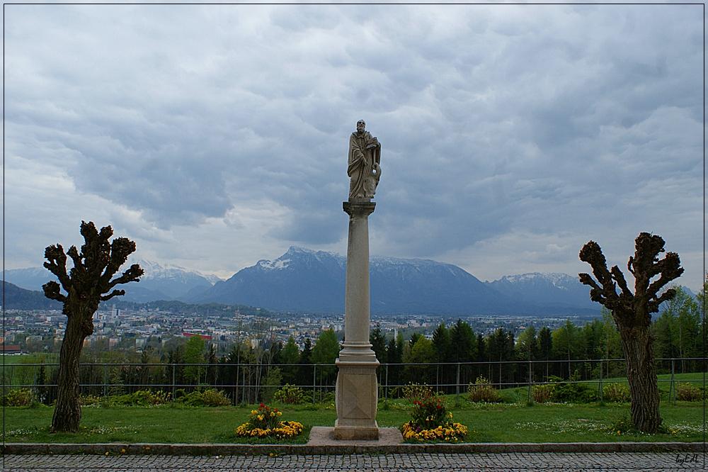 Blick auf die Stadt Salzburg...
