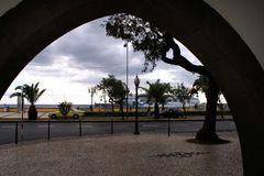 Blick auf die Uferstraße und Uferpromenade in Funchal...