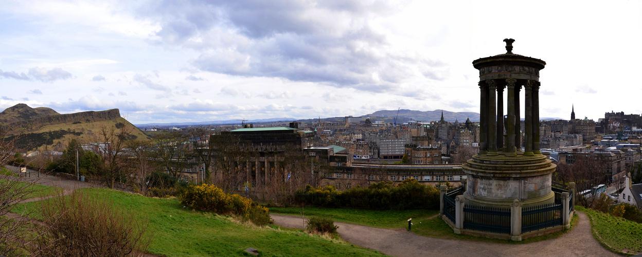 Blick auf Edinburgh vom Calton Hill
