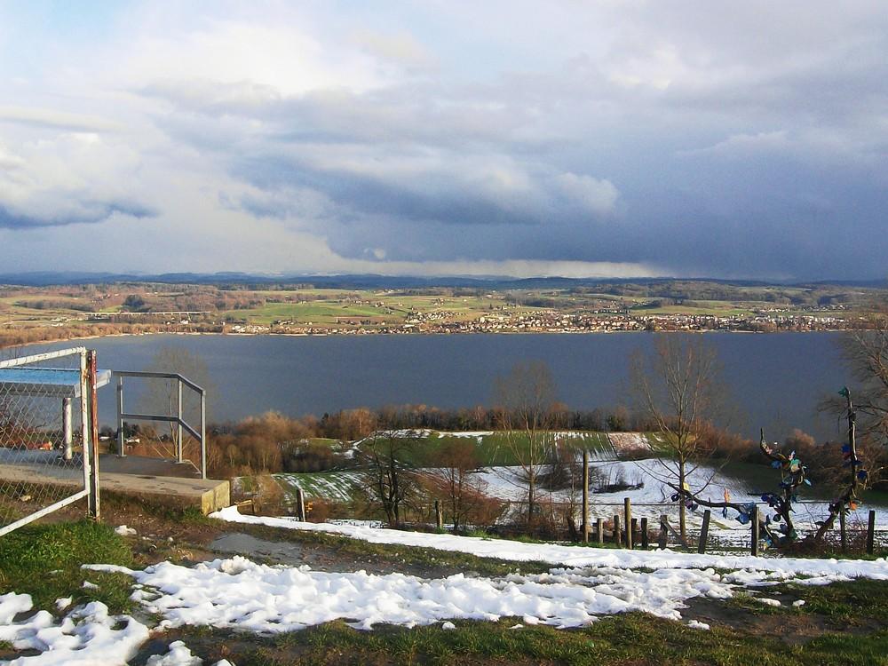 Blick auf einen schweizer See