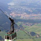 Blick auf Füssen mit Tegelbergbahn