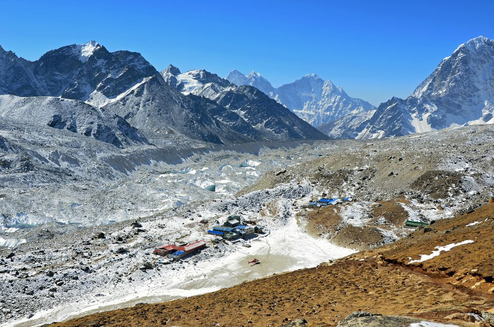 Blick auf Gorak Shep (5180 m) im Khumbu