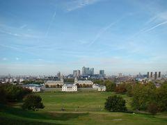 Blick auf Greenwich und London