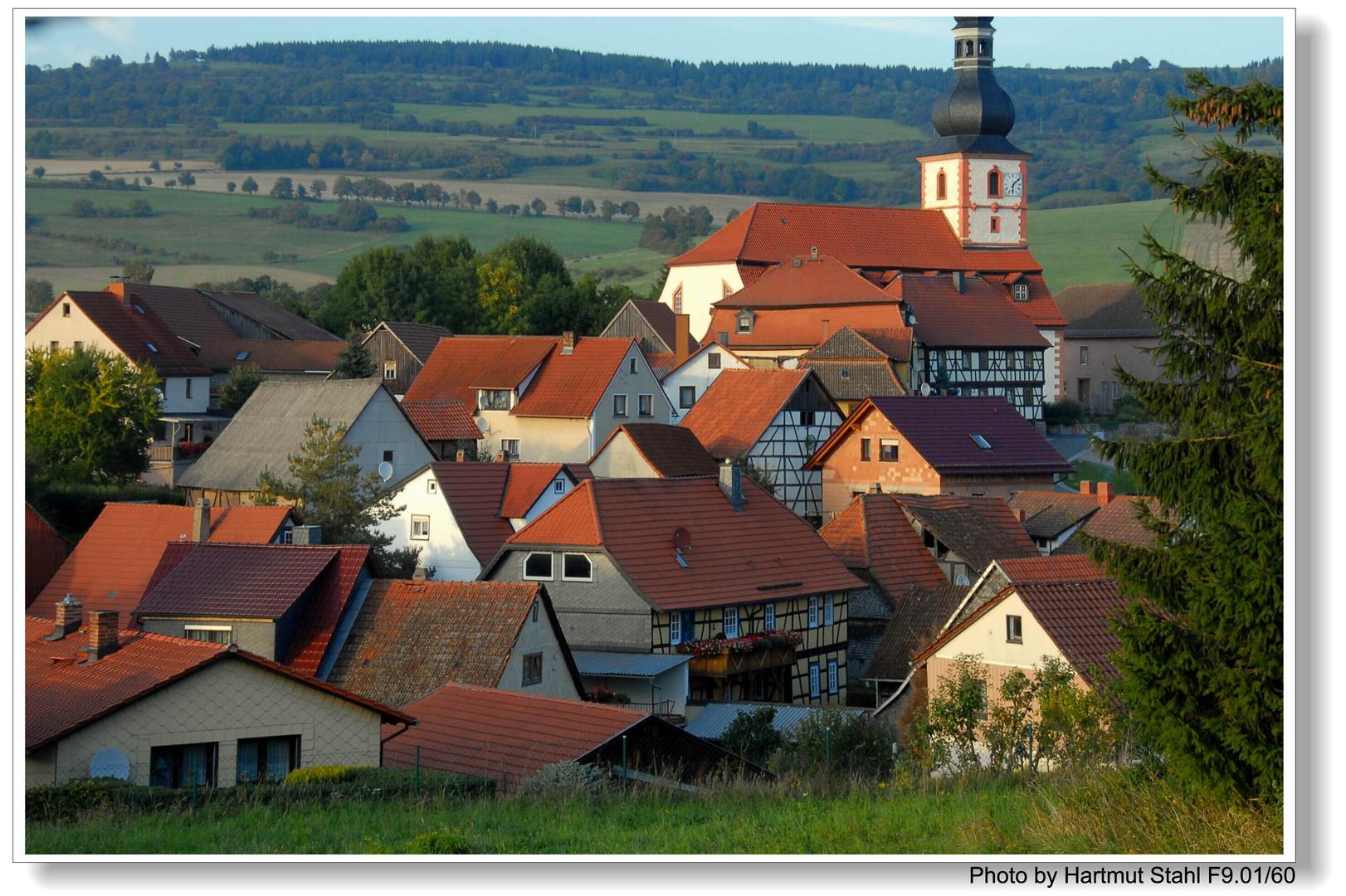 Blick auf Helmershausen von meinem Haus aus (Vistas a ...