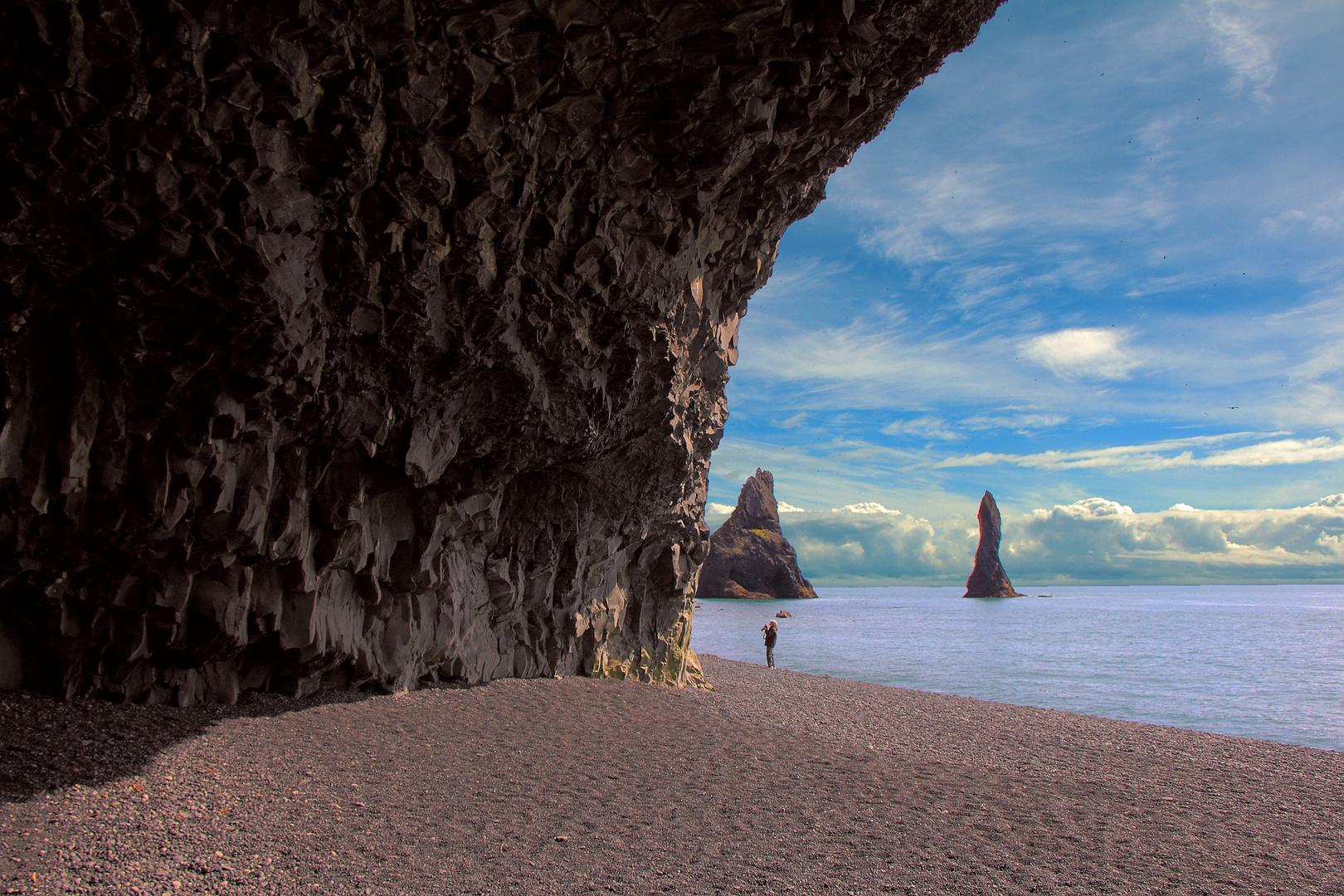 Blick auf Islandsküste
