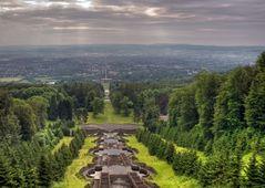 Blick auf Kassel, vom Herkules_Denkmal aus....