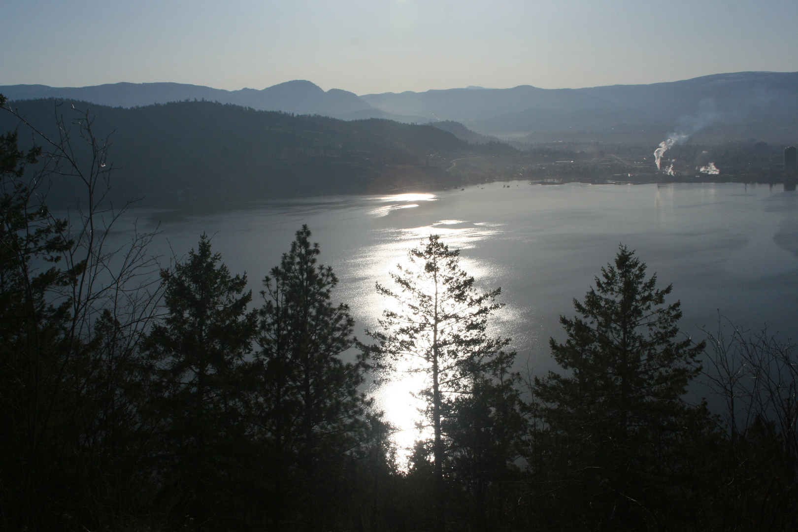 Blick auf Kelowna , early morning