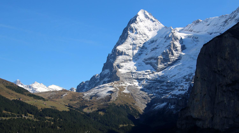 Blick auf Kleine Scheidegg und Eiger