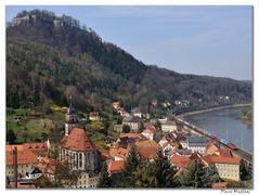 Blick auf Königstein -Frühjahr-