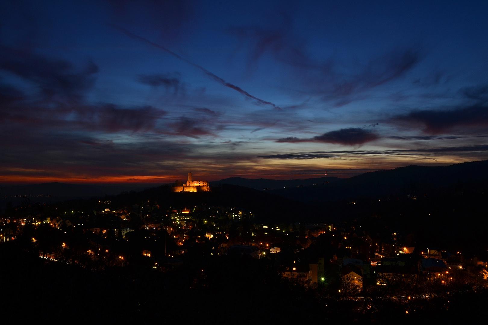 Blick auf Königsteiner Burg und Umfeld
