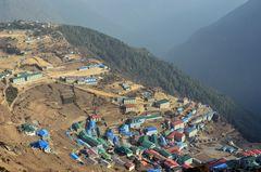 Blick auf Namche Bazar