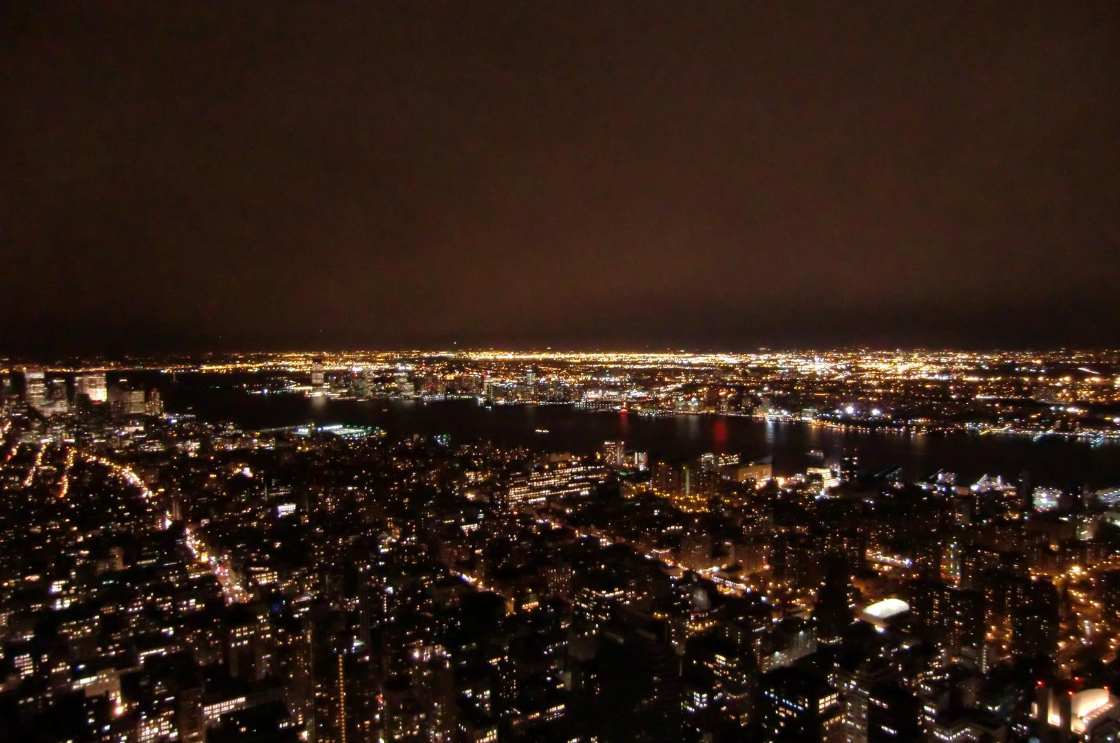 Blick auf NYC vom Empire State Building