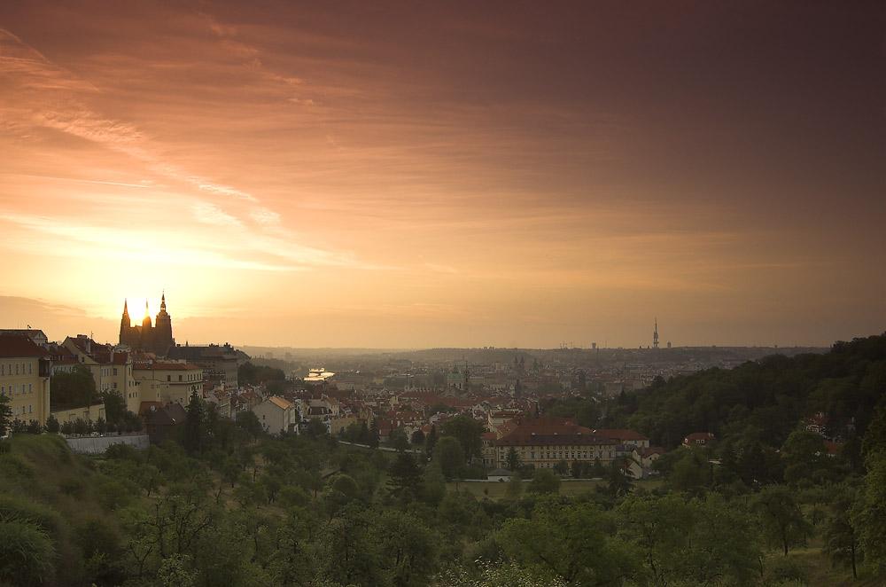 Blick auf Prag (vom Strahov Kloster aus)