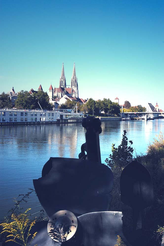 Blick auf Regensburger Dom
