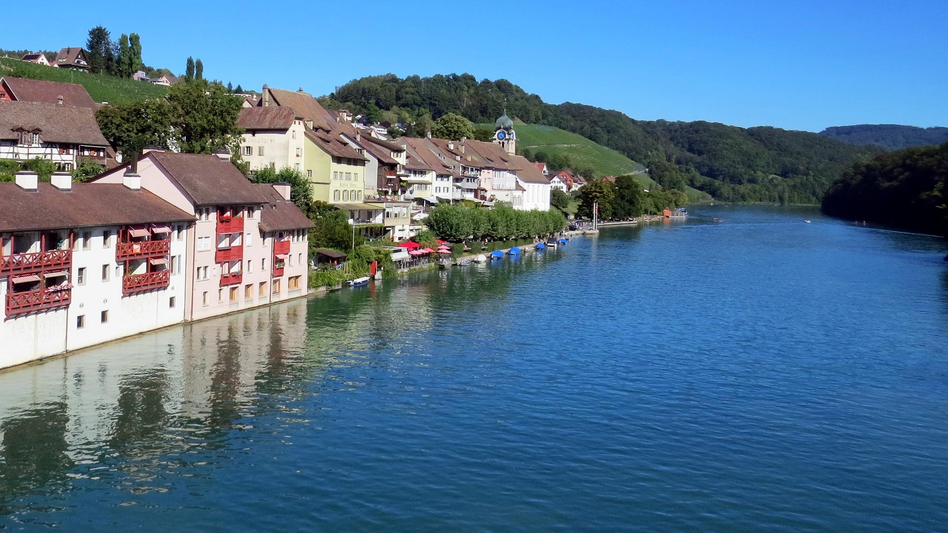 Blick auf Rhein und Eglisau