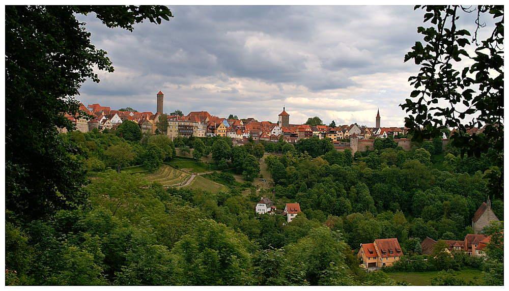 Blick auf Rothenburg o.b. Tauber