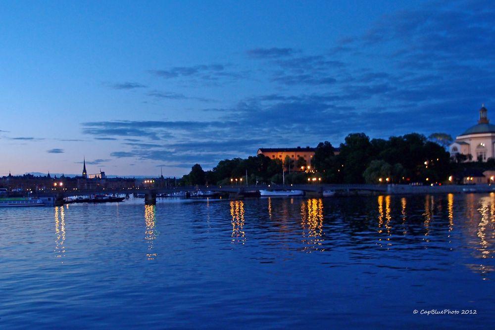 Blick auf Skeppsholmen und Östermalm
