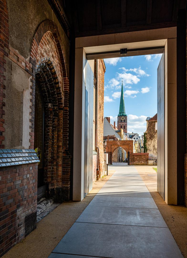 Blick auf St. Jakobi, Lübeck