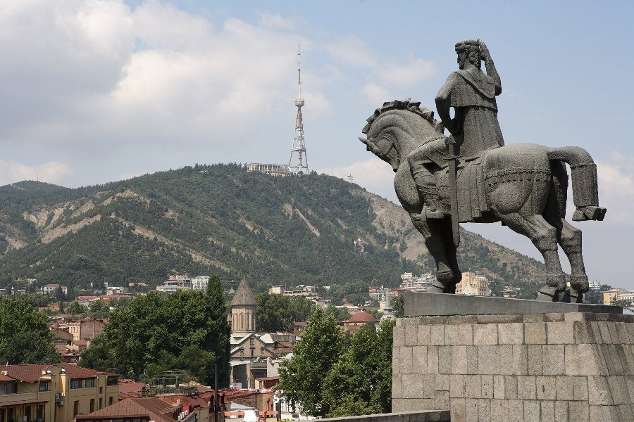 Blick auf Tbilisi - Tiflis - Georgien