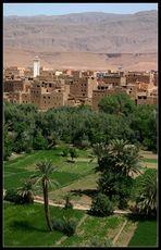 Blick auf Tinerhir und seine Oasen, Marokko