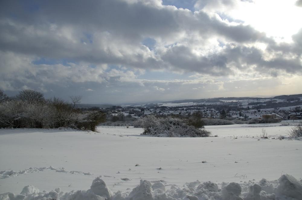 Blick auf Westernohe im Winter