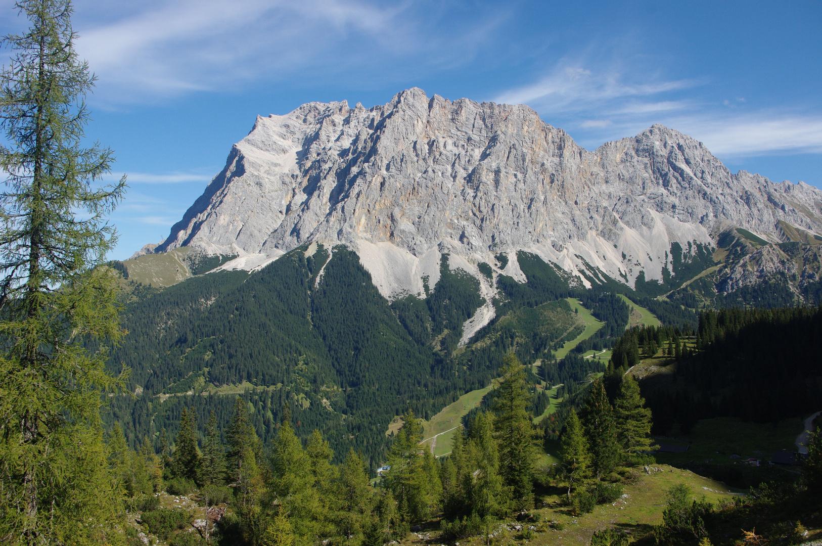 Blick auf Zugspitzmassiv von Seebenalm/Österreich