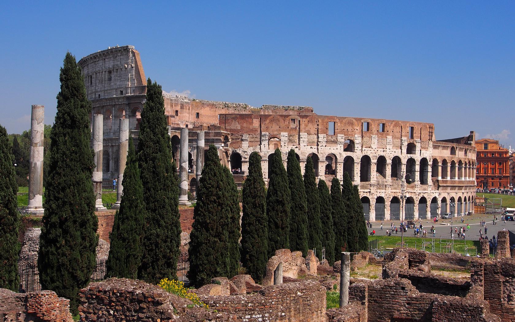 Blick auf's Colosseum