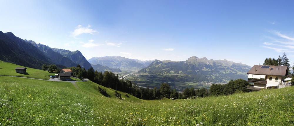 Blick auf's Rheintal