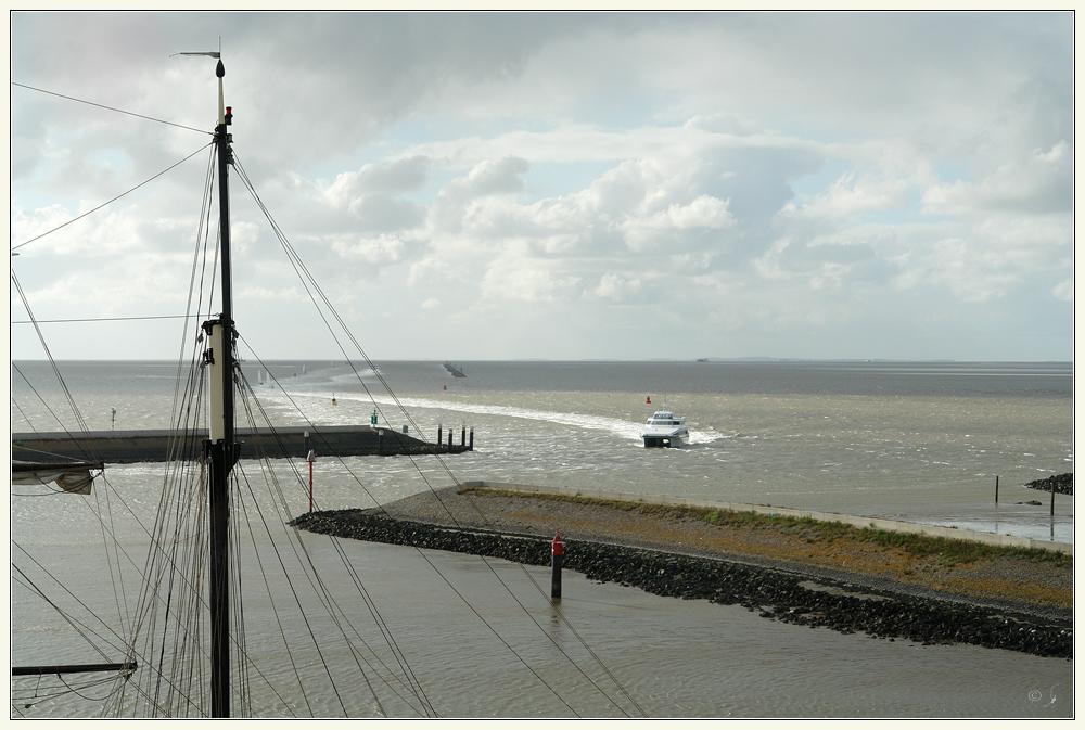 Blick aufs Wattenmeer...