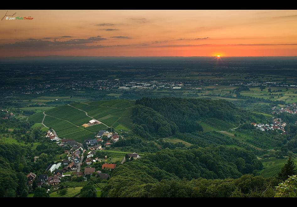 Blick aus Burg Altwindeck