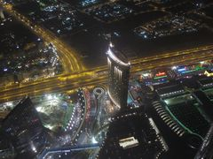 Blick aus dem 828 Meter hohen Burj Khalifa Dubai