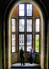 Blick aus dem Aachener Rathaus