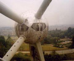 Blick aus dem Atomium in Brüssel       1986!!!