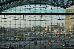 Blick aus dem Bahnhof