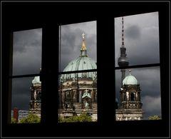 Blick aus dem Fenster . . .