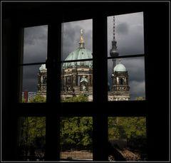 Blick aus dem Fenster . . . .