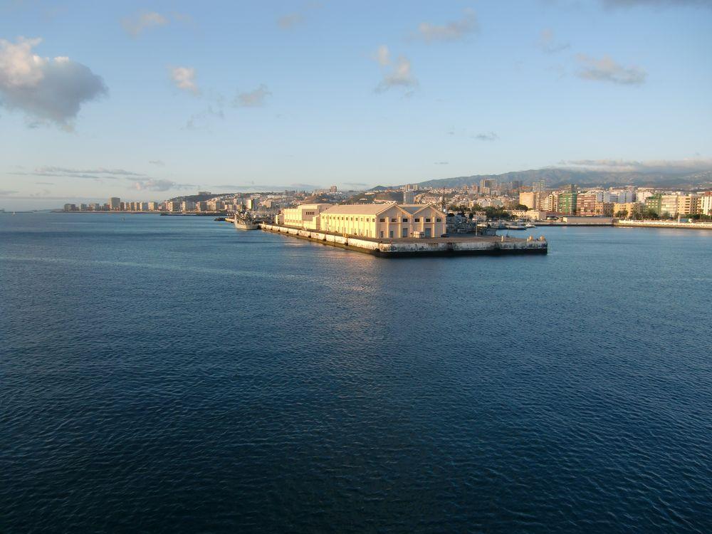 Blick aus dem Hafen in Las Palmas, Gran Canaria