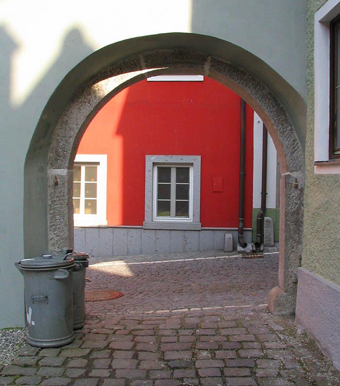 Blick aus dem Hinterhof