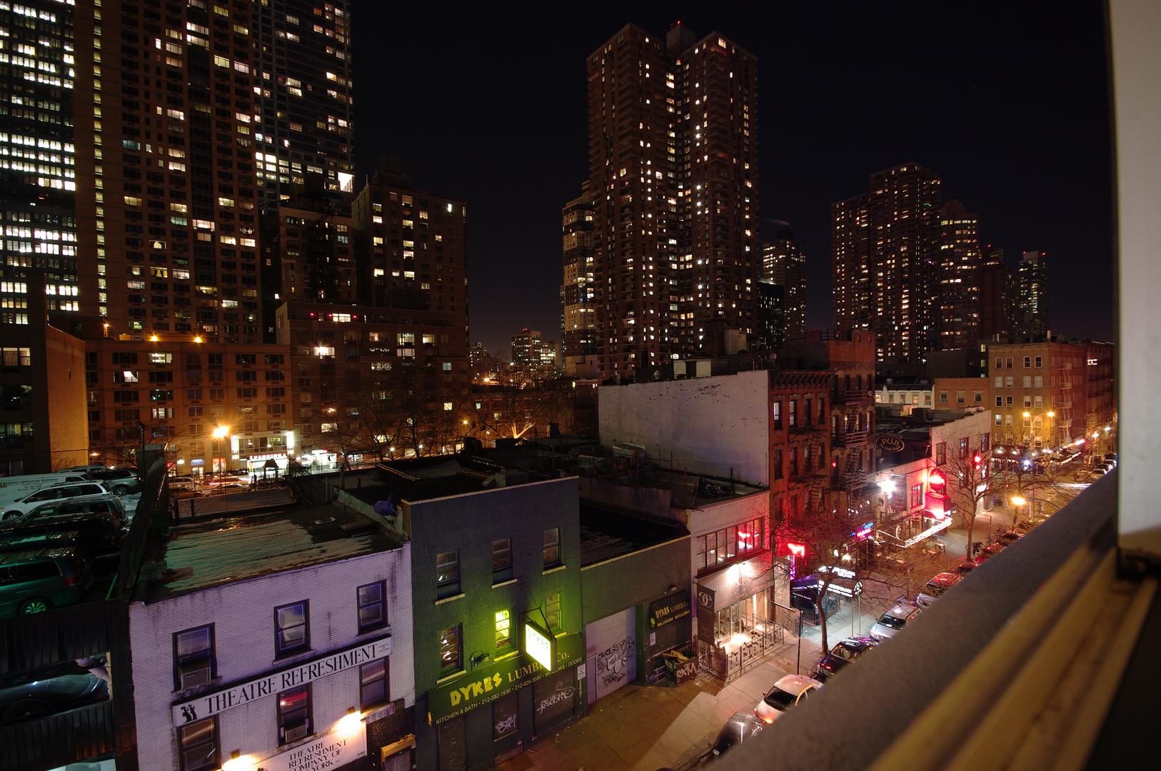 Blick aus dem Hotel in NYC