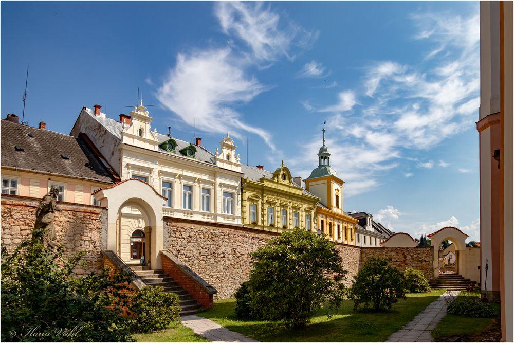 Blick aus dem Kirchgarten