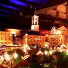 """Blick aus dem Lokal """"Marktlücke"""" auf den Weihnachtsmarkt in Karlsruhe"""