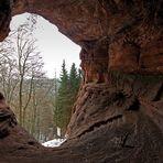 Blick aus der Genovevahöhle