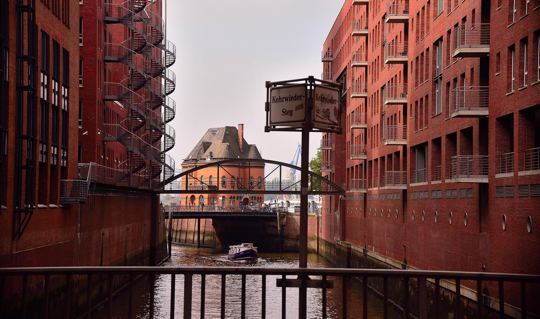 Blick aus der Hamburger Speicherstadt