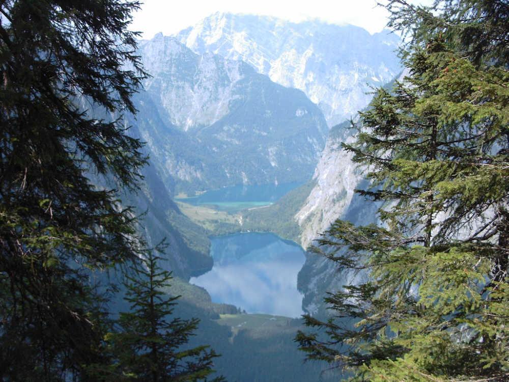 Blick aus der Röthwand auf den Obersee + Königssee