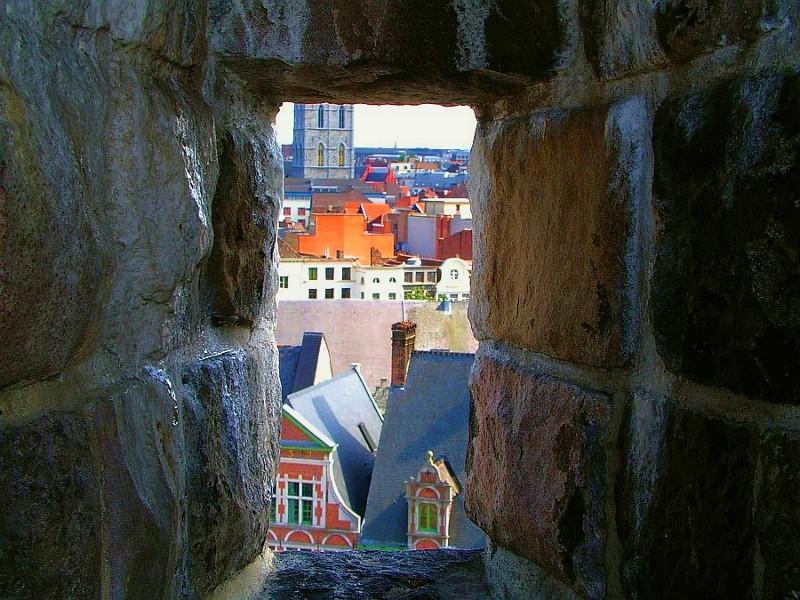 Blick aus der Stadtburg von Antwerpen