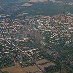 Blick aus einem Ballon auf Cottbus