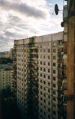 Blick aus einem Hochhaus