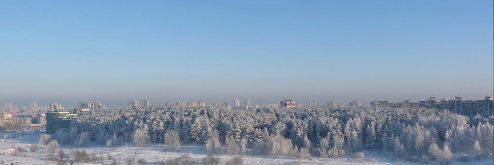 Blick aus meinem Fenster in Vilnius am 05.01.2009