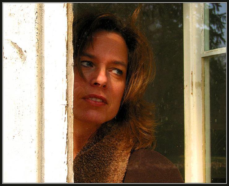 Blick durch den FensterRAHMEN